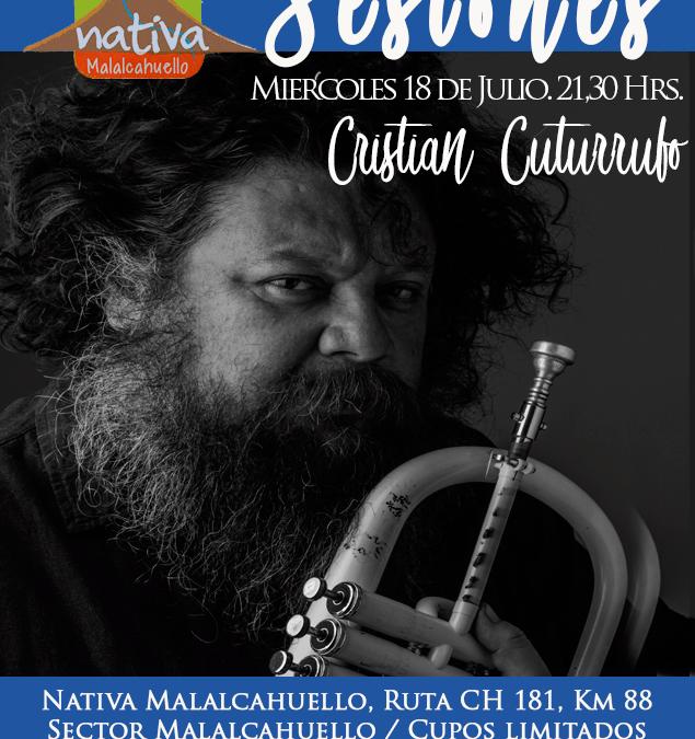Show de Jazz en Nativa Malalcahuello con nuestro artista principal Cristian Cuturrufo